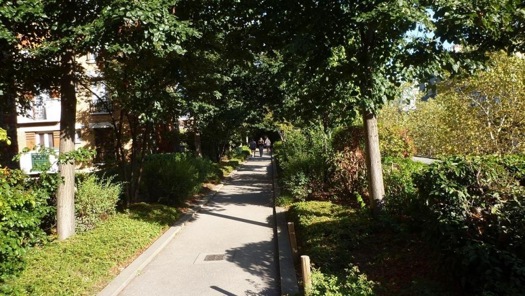 Coulée verte (promenade plantée) à Paris